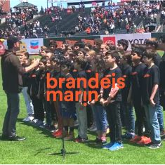 Brandeis Marin Sings the Anthem at the Giants Game!